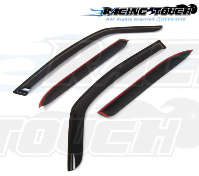 Smoke Tinted Out-Channel Visor Deflector 4pc For 2008-2010 Suzuki SX4 Crossover