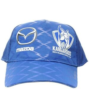 North-Melbourne-Football-Club-NMFC-Kangaroos-AFL-Training-Cap-Hat-Blue