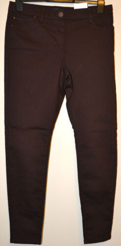 LADIES M/&S COLLECTION 5 POCKET JEGGINGS WITH STRETCH SIZE 6 SHORT BT CHOC BNWT