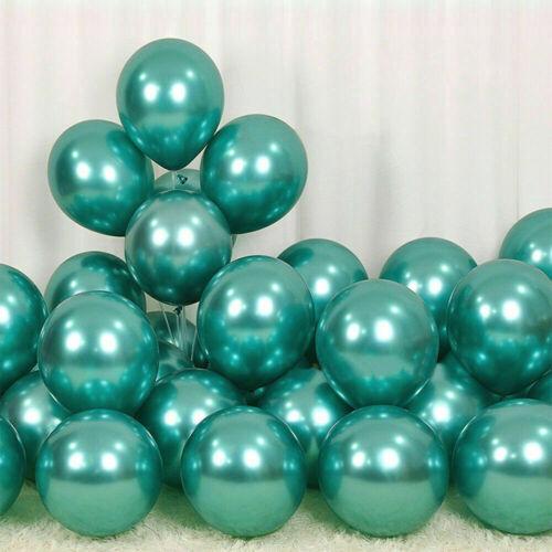 10-100 12 Inch MULTI helium latex shiny balloon Pearl Crystal Metallic Balloon