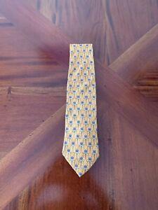 250-Stunning-Givenchy-Paris-Tie-Yellow-Blue-Geometric-Pattern-necktie-cravat
