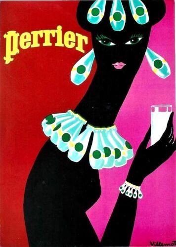 Original vintage poster PERRIER MINERAL WATER c.1980 Villemot