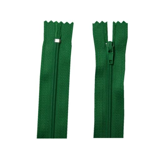 Fermeture eclair 40 cm spiralformig 3 mm non séparable vert 4020