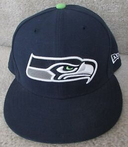 NFL Seattle Seahawks Fitted Hat Size 7 3 8 New Era 59Fifty Cap  69b496a02