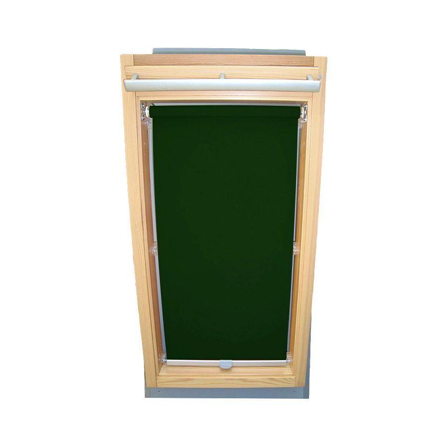 Abdunkelungsrollo für Velux-Dachfenster VU VU VU VL VKU Y, Rollo in dunkelgrün 987260