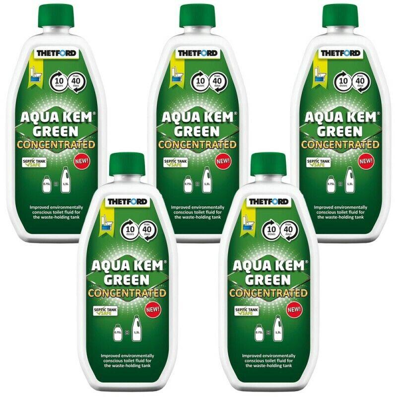 5x Aqua Kem  verde concentrated Thetford 17.20   por litro WC-set química Cámping  compra en línea hoy