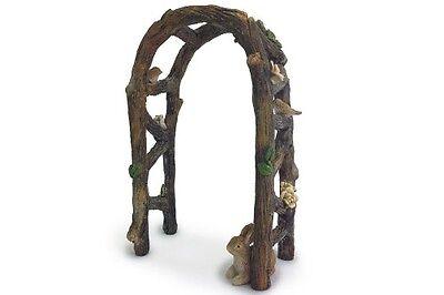 FAIRY GARDEN Miniature ~ Wooden Arbor Arch ~ Mini Dollhouse