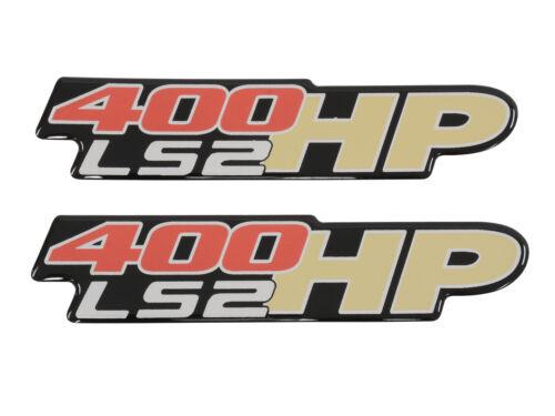 Corvette 400HP LS-2 Fender//Bumper Gel Emblem