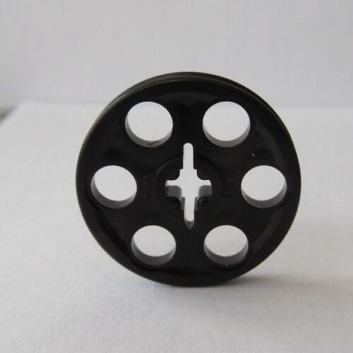 NEW LEGO Black TECHNIC WEDGE Belt Wheel PULLEY Lot of ONE