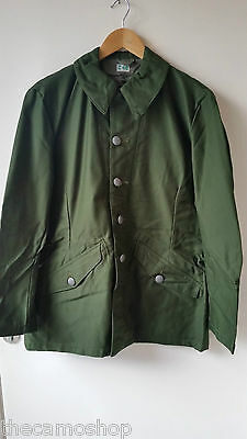 Swedish M59 olive green army field jacket, Genuine vintage coat military smock