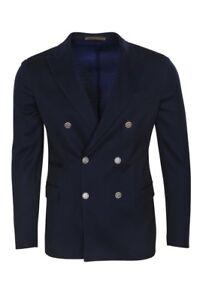 Eleventy-Blazer-Homme-52-US-Size-42-Bleu-Sombre-Slim-Fit-unicolore