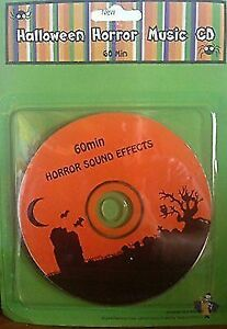 Halloween Horror Music Sound Effects CD 60 Minutes Haunted Party