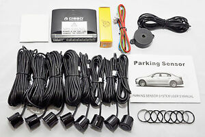 CISBO-BRAND-FRONT-REAR-CAR-PARKING-REVERSING-SENSORS-8-SENSORS-BUZZER-ALARM-KIT