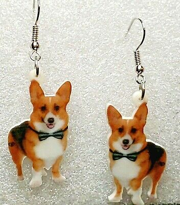 Design 2 of 2 Pembroke Welsh Corgi Dog  heart earrings  jewelry FREE SHIPPING