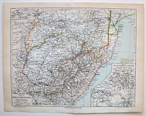 Kap-Kolonie-Oranje-Freistaat-Karte-des-Kriegsschauplatzes-Lithographie