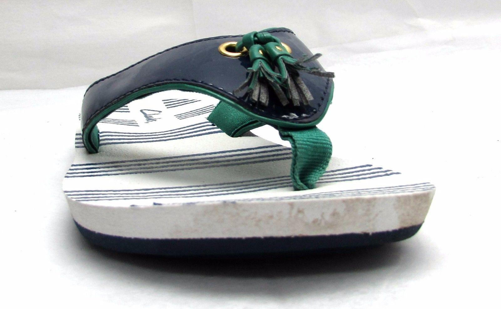 Clarks flats women's size 5 M flats Clarks sandals comfort shoes blue flip flops tassels fb1a2b