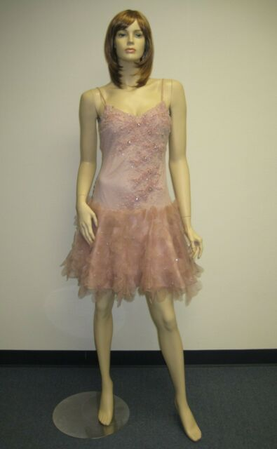 bc156de3c18 Sue Wong Dress 6 Sexy Beaded NS5-415V2 Short Sequin Evening Pink Blush Silk  muav