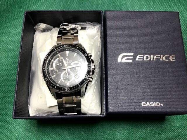 Casio Mens Edifice Watch EFR-552D-1A Chronograph Black Silver Round Face Analog