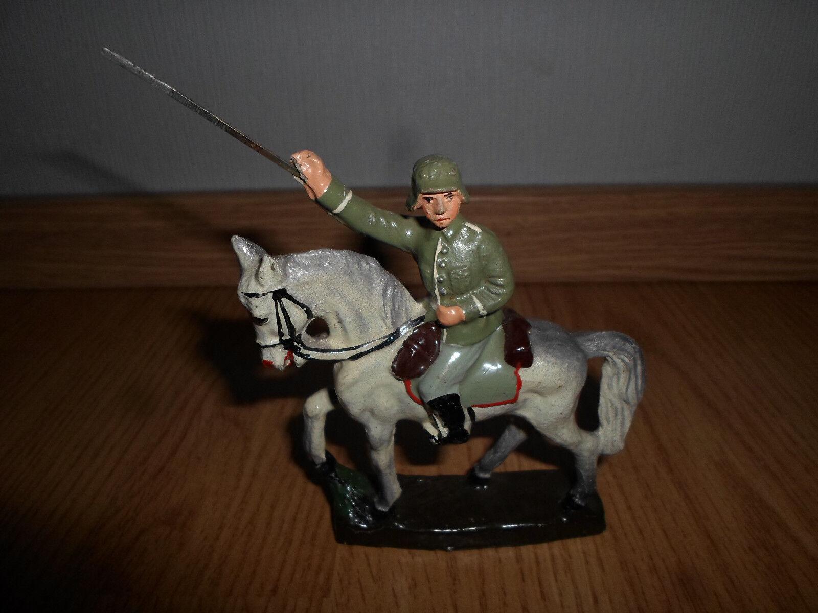 Prewar SCHUSSO german wehrmacht soldier with sword on horse WWII
