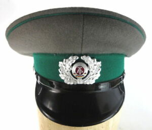 EAST-GERMAN-ENLISTED-MEN-039-S-MILITARY-ARMY-VISOR-HAT-EARLY-1980s-NEW-GRAY-GREEN-2