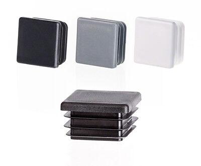 Quadratstopfen 30x30 mm Grau Kunststoff Endkappen Verschlusskappen 10 Stck