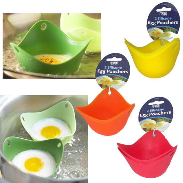 Silicone Egg Poachers Cups Breakfast Mould Poach Pods Cookware Kitchen Boiled