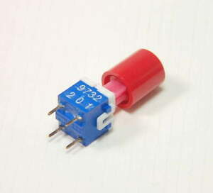 Lot of 8 DPST Latching Panel Tactile Key. Pushbutton Switch C/&K ITT Cannon