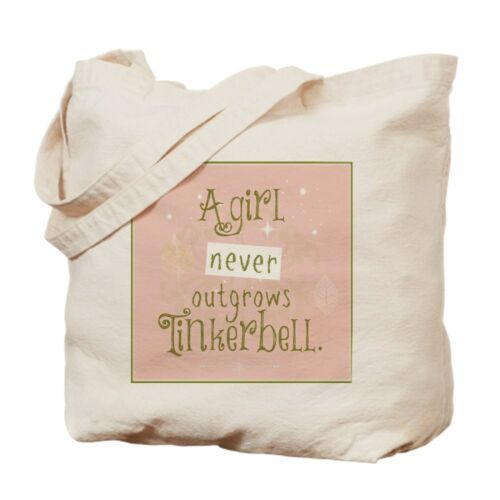 CafePress A Girl Never Outgrows Tinkerbell Tote Bag 1270582595