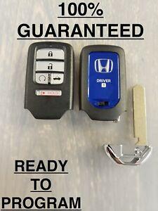 Honda Accord Hybrid Driver 1 Blue Oem Smart Key Fob Remote Start 5b Cwtwb1g0090 Ebay