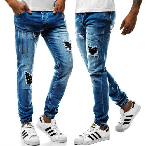 OZONEE Uomo Jeans Pantaloni Skinny Jeans Straight Cut Jogger pantaloni clubwear MIX 6836