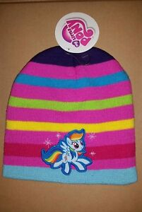 bc4065def Details about My Little Pony Rainbow Girls Beanie Knit snow Cap Winter Kids  Hat rainbow dash
