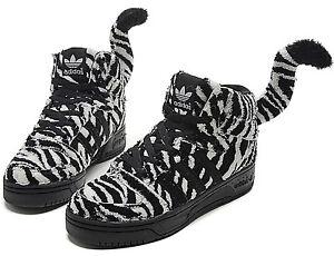698d0c77b Jeremy Scott X Adidas Originals Zebra Tail High Top Sneakers Men s ...
