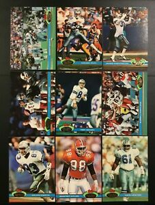 1991 Topps Stadium Club DALLAS COWBOYS Complete Team Set 18 SMITH, AIKMAN, IRVIN