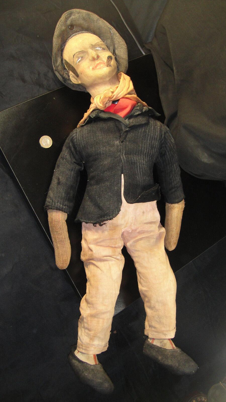 Poupée ancienne homme apache voyou 1900 jouet ancien