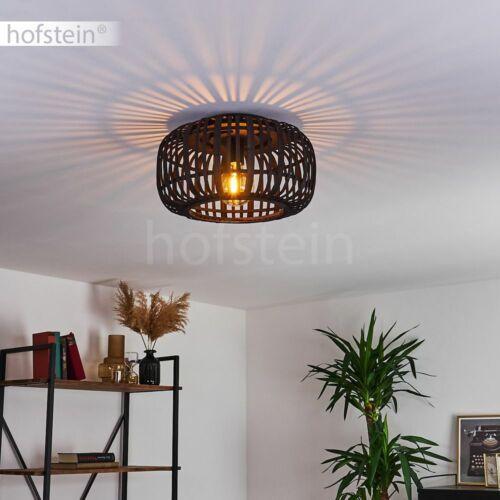 Decken Beleuchtung Boho Bambus Flur Leuchten Wohn Schlaf Zimmer Lampen schwarz