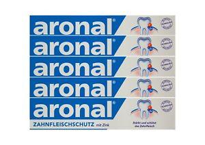 5x-aronal-Zahnpasta-75ml-Zahnfleischschutz-mit-Zink-PZN-9431782-elmex