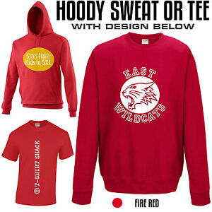 1367ffe921c6 East Wildcats from High School Musical Retro T-shirt, Hoody or ...