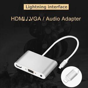 bd70ff0b71c A imagem está carregando Lightning-Para-Hdmi-Vga-Audio-Video-Digital- Adaptador-
