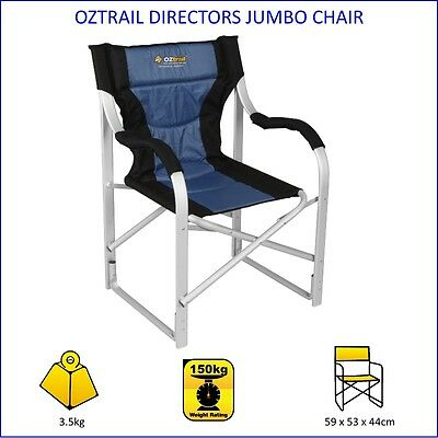 NEW Oztrail DIRECTORS CHAIR JUMBO 150kg Rated - Camping CARAVAN Beach HOME