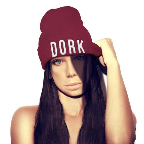 DORK Beanie Hat Embroidery Hipster Street School Winter Fashion UNISEX beenie