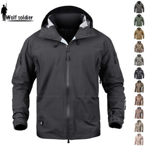 Tactical-Army-Outdoor-Mens-Jacket-Waterproof-Coats-Hardshell-Windproof-Jackets