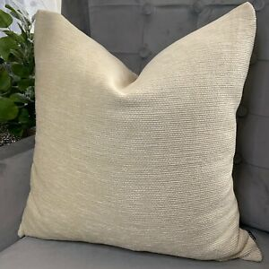 John-Lewis-034-ZAMBIA-Cushion-Cover-20-034-Durable-Best-Quality-Fabric-Modern-Cream