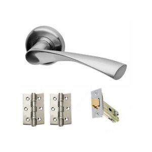 Astrid Satin Chrome Internal Door Handle Packs - Latch Lock ...