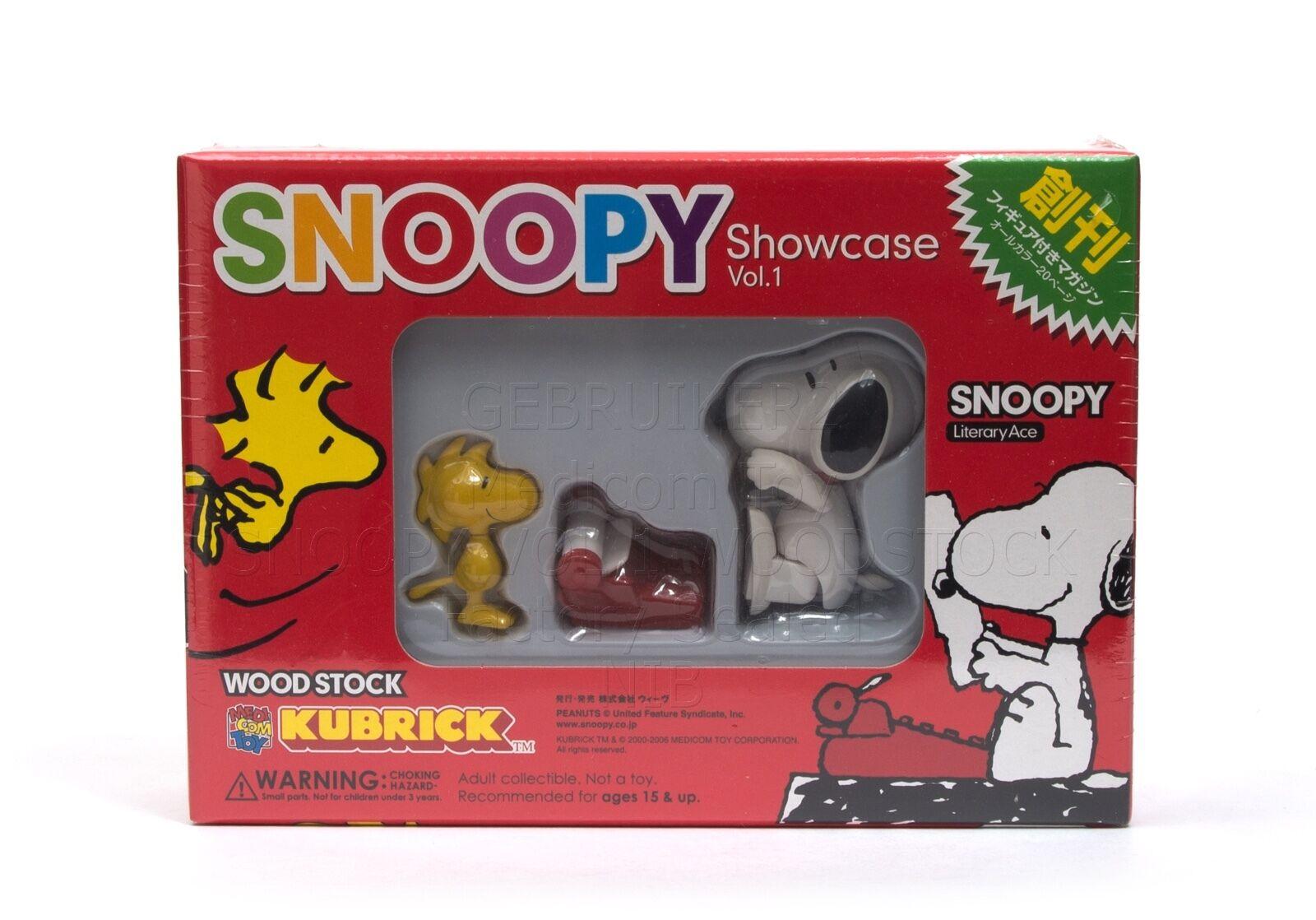 Medicom Toy Kubrick SNOOPY Showcase VOL. 1 WOODSTOCK NIB