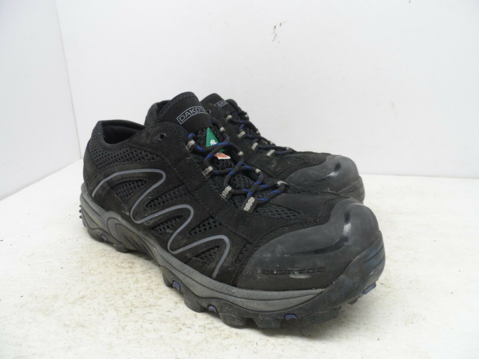 DAKOTA Men's Low-Cut Quad Comfort Steel Toe Steel Plate Yard shoes Black 10.5EE