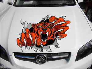 Huge-Bonnet-Ripping-Tiger-Decal-Sticker-Vinyl-car-Free-Post-large