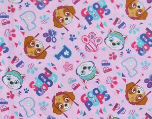 FAT-QUARTER-PAW-PATROL-COTTON-FABRIC-SKYE-EVEREST-NICKELODEON-GOOD-PUPS-FQ