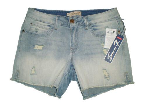 Seven 7 Premium Denim Womens Stretch Blue Denim Cut Off Shorts Size 10P New