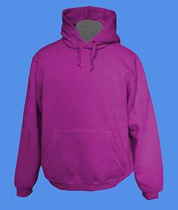 Hoody-Kapuzenpullover-B-amp-C-Rohware-unbedruckt-blanko-fuchsia-pink-rosa-lila-L