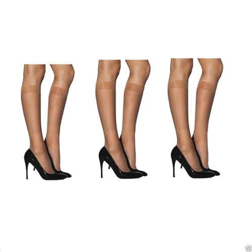 Signore Donne al ginocchio 15 DENARI Pop Calze con Comfort Top 100/% Nylon